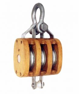 Regular Wood Block Triple With Shackle